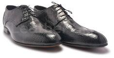 Men Black Derby Leather Shoes with Crocodile Pattern Mens Casual Dress Shoes, Mens Dress Outfits, Oxford Shoes Outfit, Mens Fashion Shoes, Men Dress, Simple Shoes, Leather Skin, Black Leather Shoes, Formal Shoes
