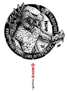 Illustration for the OTAKU brand. this tee shirt is available here :http://www.otaku.fr/collaboration/Tsuchinoko/borntodestroy#