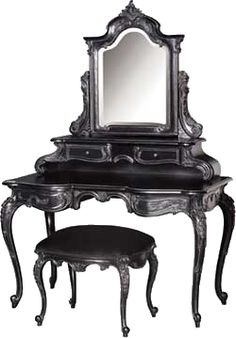 Such a beautiful vanity... I can't imagine how I would be able to store all of my lipsticks, but we will make it work!