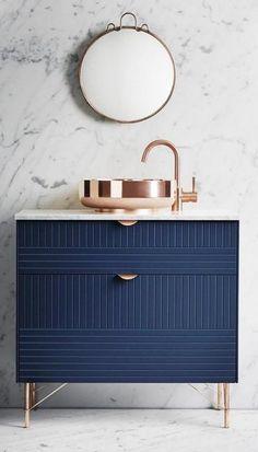 Bathroom Design Trends 2018, Modern Sinks and Vanities Made of Natural Materials
