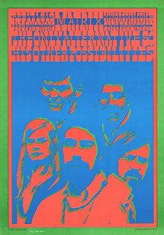 Victor Moscoso Psychedelic Posters and Comix, Art in San Francisco and the Summer of Love. Tour Posters, Band Posters, Music Posters, Psychedelic Art, Victor Moscoso, Hippie Posters, San Francisco, Concert Posters, Gig Poster