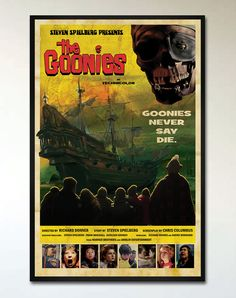 The Goonies - Retro Movie Poster - 1950's and 1960's Vintage Disney Movie Inspired, Alternative Pop Art