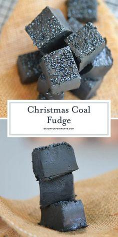 Christmas Coal, Christmas Fudge, Christmas Snacks, Xmas Food, Christmas Cooking, Black Christmas, Christmas Candy, Handmade Christmas, Diy Christmas