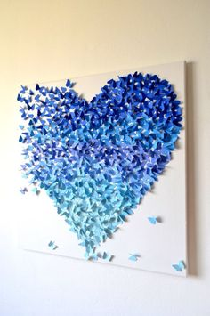 Heart Wall Art reserved for samantha butterfly wall art-ombreronandnoy