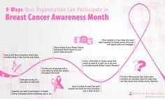 Everyone in your organization can get involved in Breast Cancer Awareness Month this year! Take a look at our #infographic to find out 9 ways you can get involved in the fight for the cure. #BreastCancerAwareness