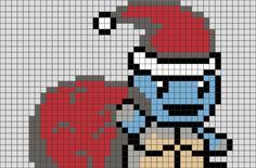 Chritmas Squirtle Pixel Art