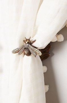 Bee window curtain accent