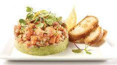 Be tempted by this easy Classic salmon tartare recipe Vegan Breakfast Recipes, Vegan Recipes Easy, Salmon Recipes, Seafood Recipes, Tartare Recipe, Salmon Tartare, Avocado, Tomato Cream Sauces, Homemade Muesli