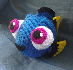 LoopyYarn shares a free crochet pattern for making a Baby Dory.