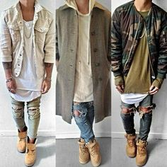 Ripped Jeans Outfits Which one do you prefer 1 2 or 3 Comment ---------------------- : @nasithhh by urbanstylewear