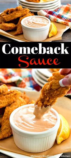 This Comeback Sauce Recipe is the epitome of quick and easy. Use for dipping chicken, fries, vegetables and beyond. It's simple and insanely delicious. Salsa Yum Yum, Yum Yum Sauce, Breaded Chicken Tenders, Oven Fried Chicken, Dip Recipes, Sauce Recipes, Cooking Recipes, Copycat Recipes, Veggie Recipes
