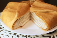 Crepe Cake with Ricotta and Yogurt Mousse Filling (Russian)
