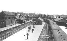 Hornsby Railway Station steam era.