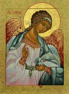 Guardian Angel with Child, Orthodox Christian Icon Byzantine Icons, Byzantine Art, Religious Icons, Religious Art, Angel Drawing, Russian Icons, Russian Style, Angels Among Us, Guardian Angels
