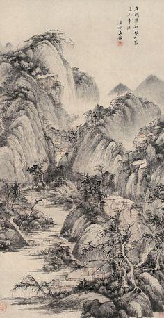 Wang Jian(王鑒) ,  山水图立轴