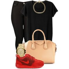 A fashion look from October 2014 featuring Monki t-shirts, Givenchy tote bags and Michael Kors watches. Browse and shop related looks.