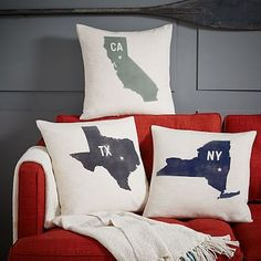 incorporate some ohio roots :) State Silhouette Digital Print Pillow #westelm