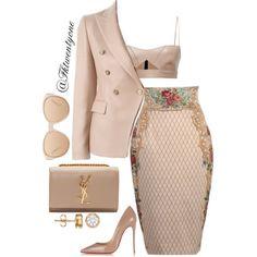 She Styles by fashionkill21 on Polyvore featuring moda, Salvatore Ferragamo, Tagliatore, Dolce Vita, Christian Louboutin, Yves Saint Laurent and Linda Farrow