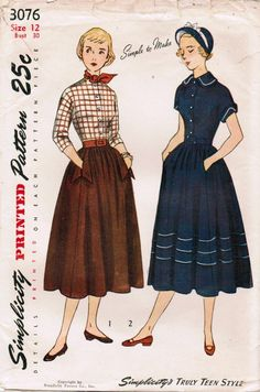 1949 Simplicity sewing pattern