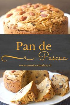 Pan de Pascua, con manjar. Receta chilena. Chilean Recipes, Chilean Food, Pan Bread, Perfect Food, Sweet Bread, Food Menu, Mexican Food Recipes, Bakery, Food And Drink