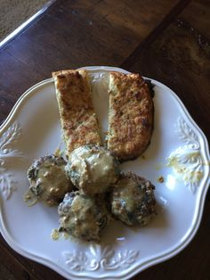 Spinach and Feta Meatballs with Cauliflower Breadsticks