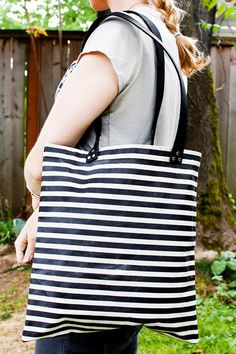 DIY Waxed Canvas Tote Bag