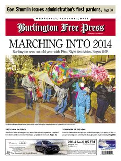 Vermonter of the Year in today's Burlington Free Press www.burlingtonfreepress.com