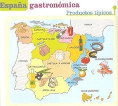 Mapa: España gastronómica: