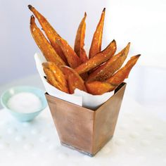 Baked Sweet Potato Fries.  Healthy never tasted so good!