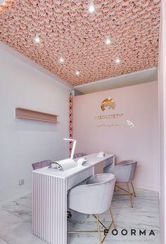 Home Beauty Salon, Home Nail Salon, Nail Salon Design, Nail Salon Decor, Beauty Salon Decor, Beauty Salon Design, Beauty Salon Interior, Beauty Bar, Modern Nail Salon