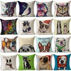 Colorful Dog Cushion Dachshund Throw Pillow Decorative Pillows