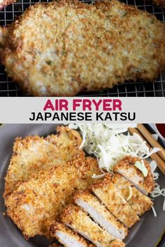 These Air Fryer Boneless Pork Chops (Japanese Tonkatsu) are easy, crispy, and delicious. Now you can have your favorite fried pork chop without the added fat. A quick and healthy dinner option. Air Fryer Dinner Recipes, Air Fryer Recipes, Appetizer Recipes, Appetizers, Chicken Katsu Recipes, Pork Chop Recipes, Shrimp Recipes, Southern Fried Pork Chops, Asian Recipes