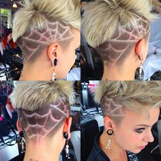 If I ever did an undercut (which I would NEVER do) this is what I'd get done Undercut Hairstyles, Cool Hairstyles, Undercut Pompadour, Haircuts, Short Hair Cuts, Short Hair Styles, Undercut Hair Designs, Shaved Hair Designs, Hair Patterns