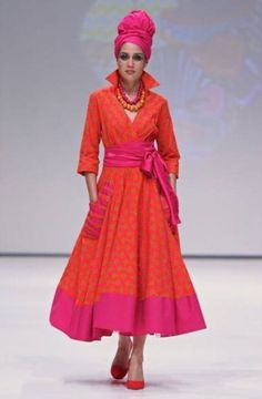High collar ,crossover dress - Diva designs by brenda - Custom made South African Design, South African Fashion, African Fashion Designers, African Print Fashion, African Print Dresses, African Fashion Dresses, African Dress, African Clothes, Elegant Summer Dresses