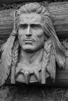 Wood Carving Faces, Wood Carving Art, Dream Catcher Native American, Native American Indians, Wood Sculpture, Sculptures, Art Carved, Wooden Art, Western Art