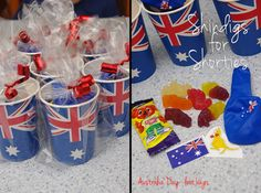 Aussie flag paper cup treat bag