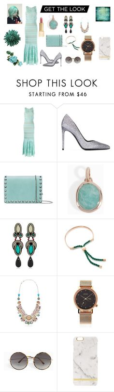 """Get this look..."" by jamuna-kaalla ❤ liked on Polyvore featuring Cecilia Pradomurion, Yves Saint Laurent, Valentino, Monica Vinader, Dori Csengeri, Ayala Bar, Komono, Spektre and vintage"