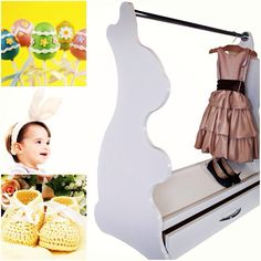 Rabbit#baby nursery#rabbit themed nursery#girl#rolling closet#mobile closet#limited space #kids room organizer#mobile dress up closet#rabbit   http://www.acebabyfurniture.com/