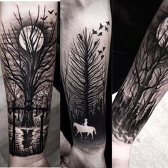 Love the use of existing skin in these tats