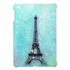 Eiffel Tower Pastel Turquoise iPad Mini Case