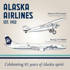 81 years Alaska Airlines