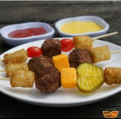 Love this cheeseburger on a stick