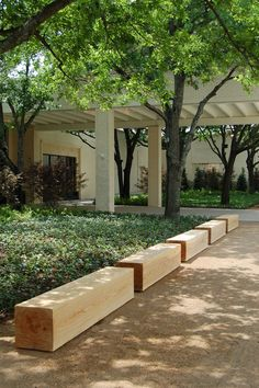 NorthPark Center, Dallas TX. Six foot long benches made from solid Sunken Cypress.