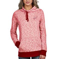 Detroit Red Wings Antigua Women s Swift Cowl Neck Pullover Hoodie - Red  Detroit Red Wings 06c9c160f