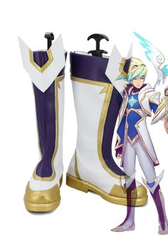 LOL Janna Cosplay Shoes The Storm/'s Fury Star Guardian Magical Girl Boots Heels