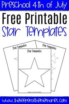 This free star template is perfect for celebrating the of July with your children through decorations, crafts, and art projects. Diy Crafts For Kids Easy, Craft Projects For Kids, Art Projects, Star Template Printable, Free Printables, Templates, Sensory Activities Toddlers, Kids Learning Activities, American Flag Crafts