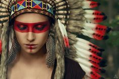 Silent wind by Tikal-SH on DeviantArt Native American Girls, Native American Beauty, American Indians, American Symbols, Make India, Native American Photography, Tribal Makeup, Foto Top, Festival Makeup