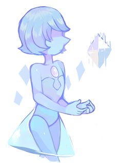 "nine-doodles: ""Blue Pearl is by far my favorite pearl "" Pearl Wallpaper, Pearl Steven, Steven Univese, Perla Steven Universe, Spiritual Animal, Universe Art, Cartoon Shows, Blue Pearl, Doodles"