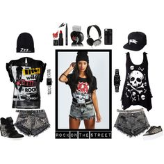 """Rock on the street"" by victorina-bob on Polyvore"