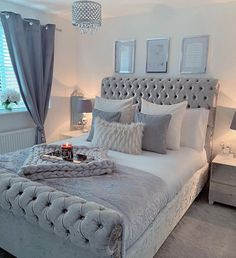 That will motivate you inspirational grey bedroom ideas ultra modern 13 … – Bedroom Inspirations Grey Bedroom Design, Grey Bedroom Decor, Glam Bedroom, Girl Bedroom Designs, Bedroom Colors, Modern Bedroom, Grey Bedrooms, Bedroom Inspo Grey, Ikea Bedroom